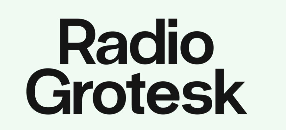 Tipografías para web: Radio grotesk