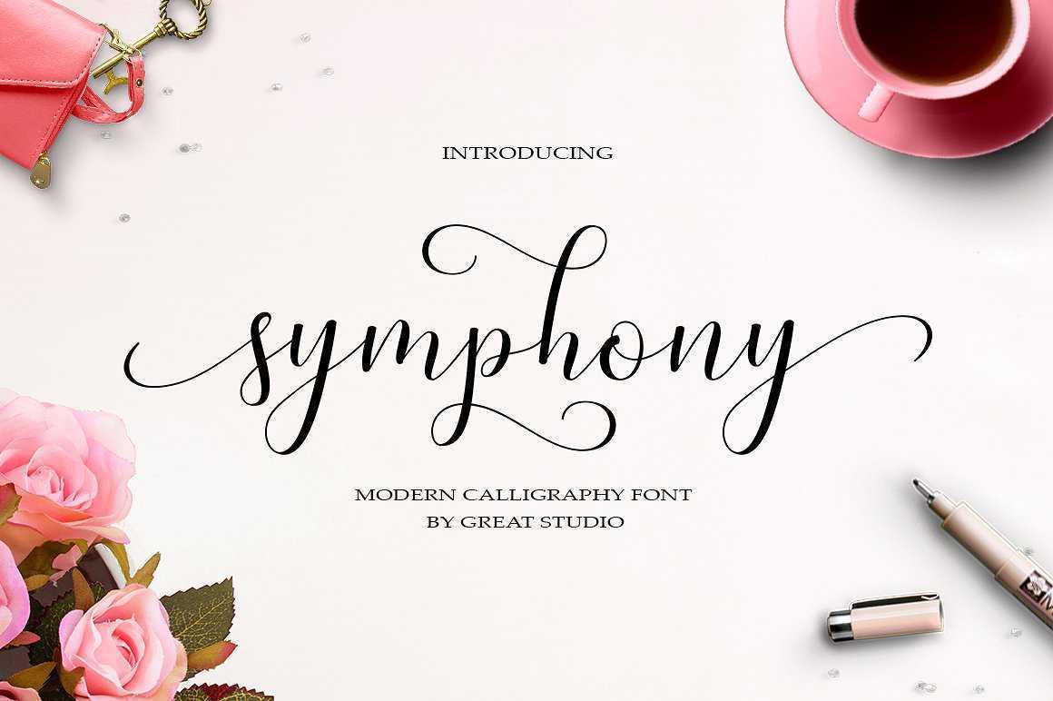 Tipografías para web: Symphony script