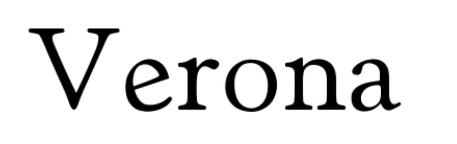 Tipografías para web: Verona
