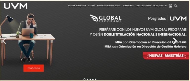 Ejemplo de sitio web: portal web educativo