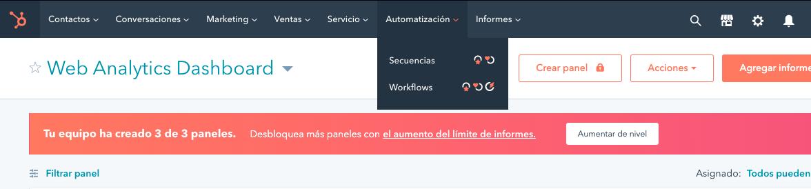 Workflow en español con HubSpot