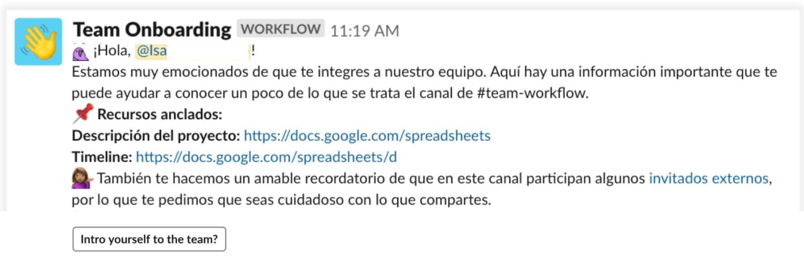 Cómo usar Slack: flujos de trabajo