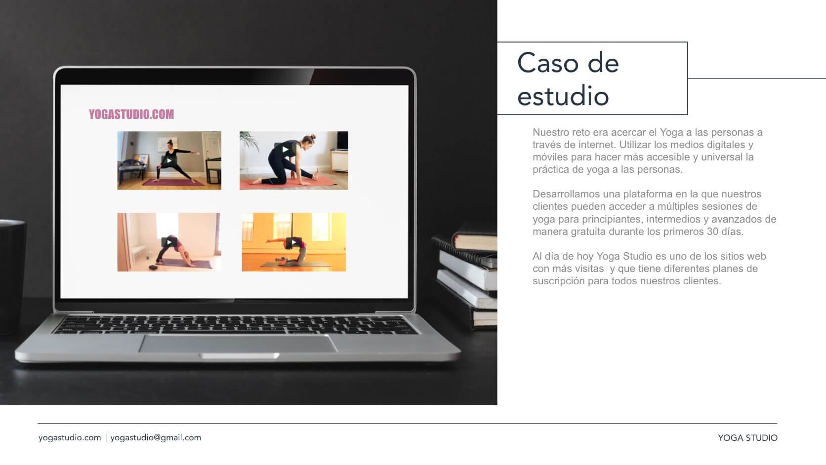 Ejemplo de media kit con la plantilla gratuita de HubSpot