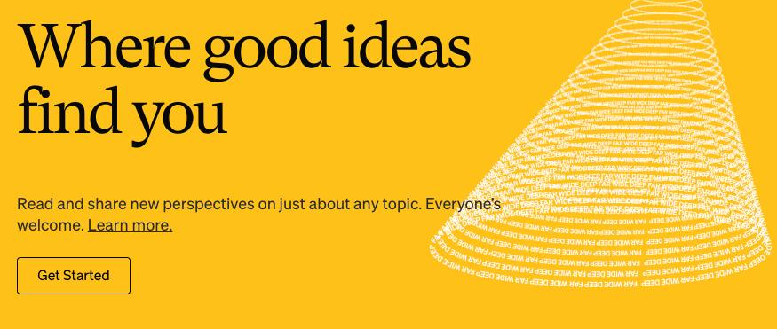 Medium, página gratuita para crear blogs