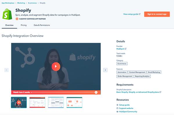 Ejemplos de CMS: Shopify