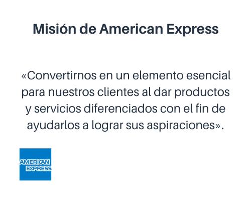 Misión de American Express