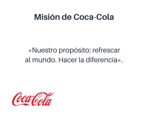 Misión empresarial de Coca-Cola