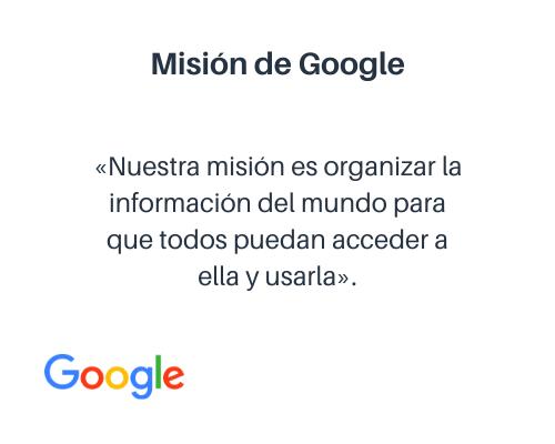 Ejemplo de misión: Google