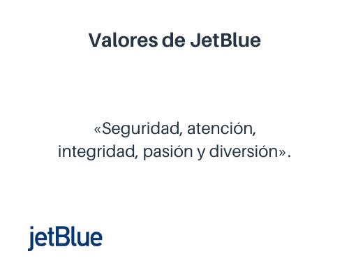 Ejemplos de valores empresariales: JetBlue
