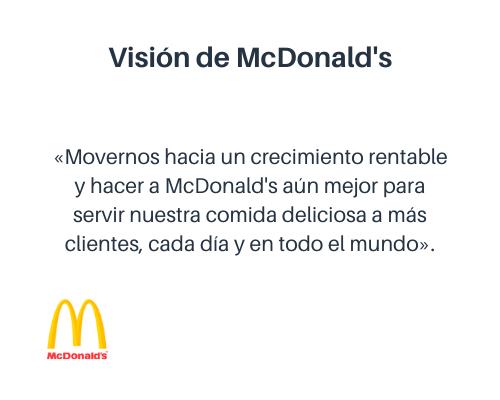 Ejemplo de visión de una empresa: McDonald's