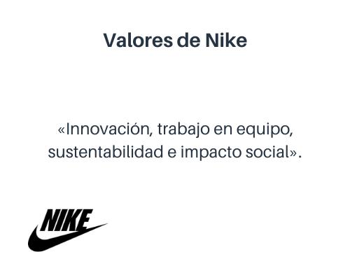 Valores de Nike