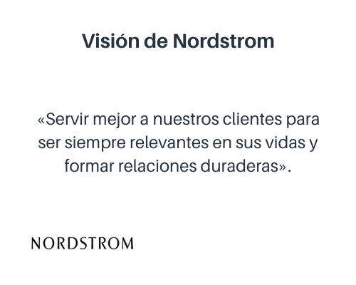 Ejemplo de visión corporativa: Nordstrom