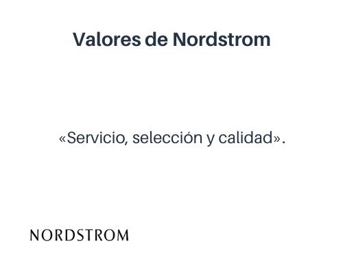 Ejemplos de valores empresariales: Nordstrom