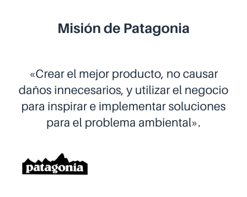 Ejemplo de misión de una empresa: Patagonia
