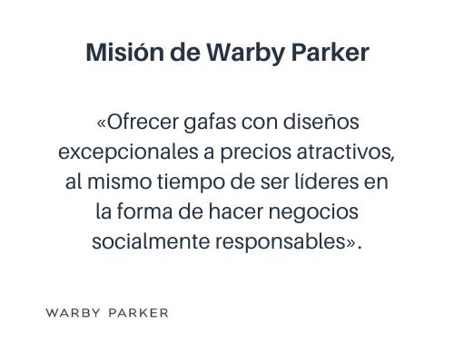 Ejemplo de misión de una empresa: Warby Parker