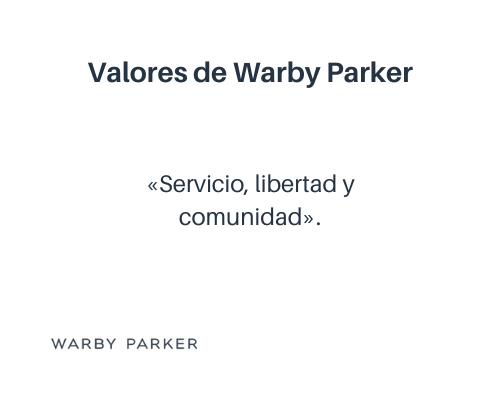 Ejemplos de valores empresariales: Warby Parker
