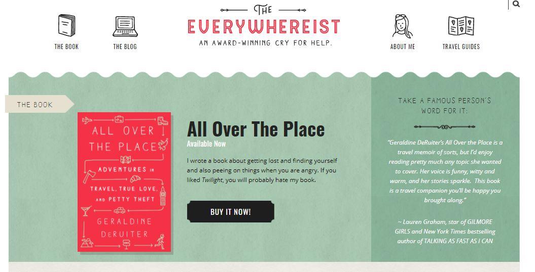 Ejemplo de sitio web original con blog: The Everywhereist