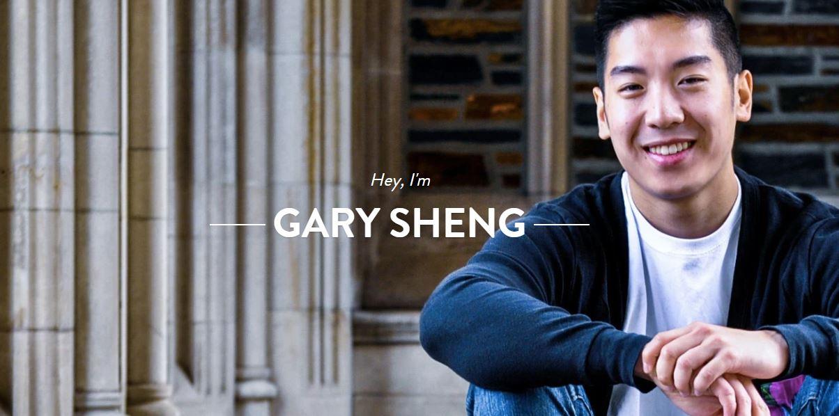 Ejemplo de página web personal original: Gary Sheng