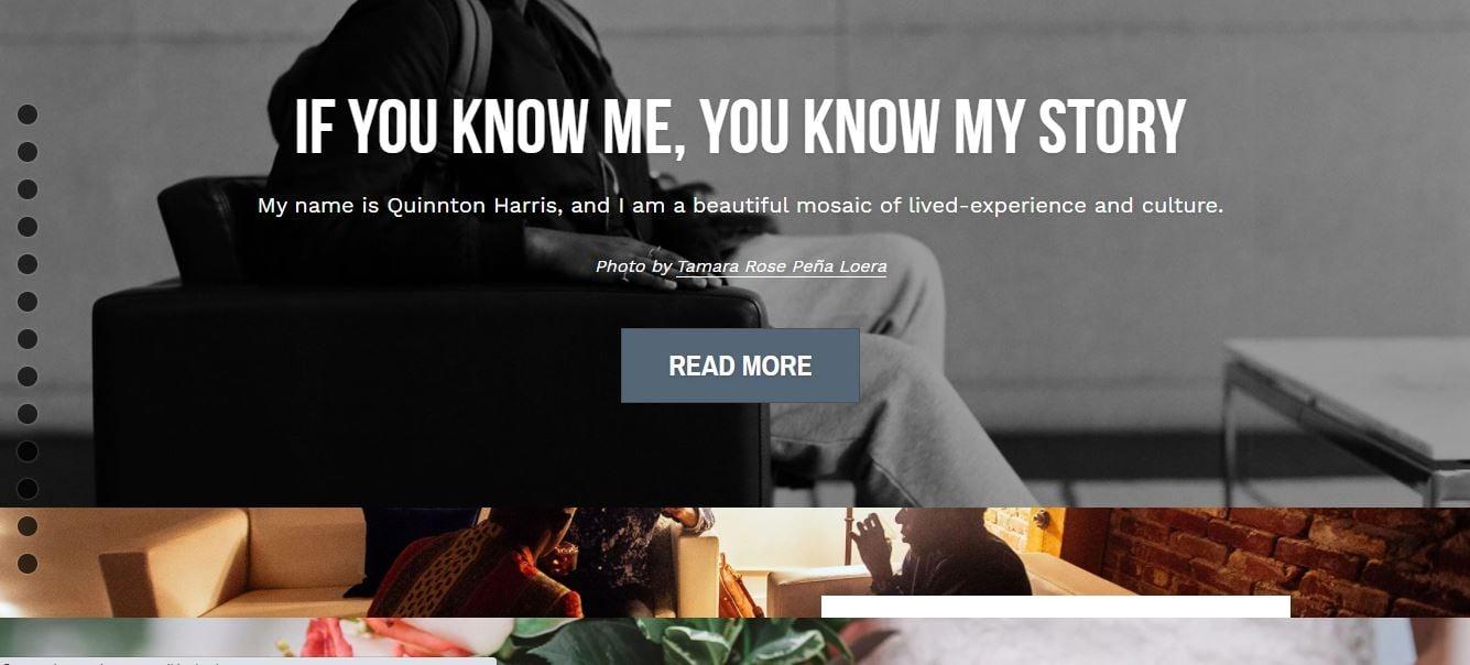 Ejemplo de sitio web original: Quinnton Harris