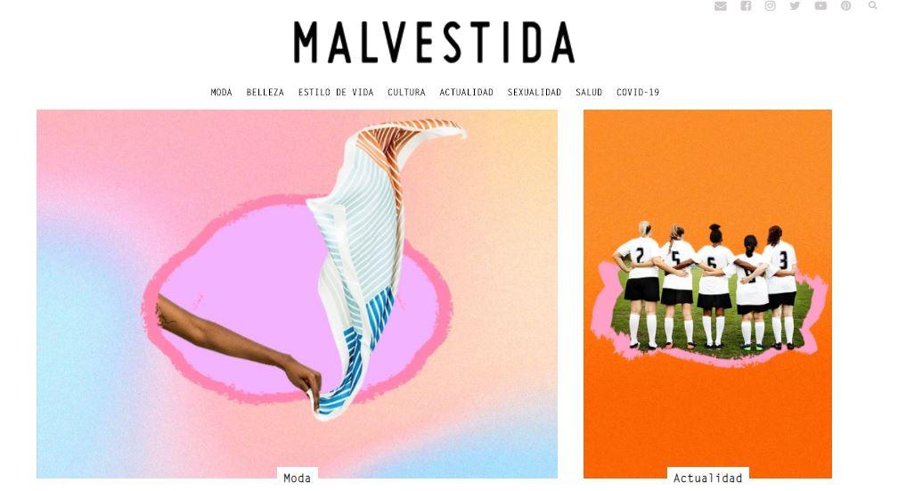 Ejemplo de página web: Malvestida