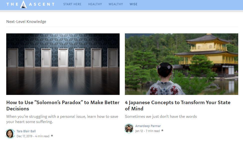Ejemplo de sitio web: Medium