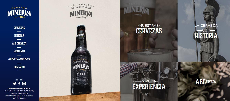 Ejemplo de sitio web original: Minerva