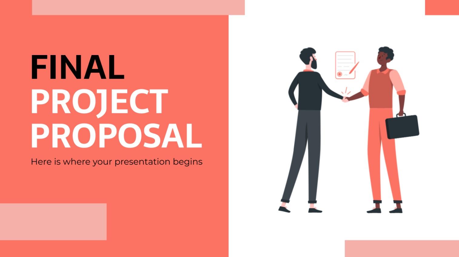 Final Project Proposal, plantilla de PowerPoint animada gratis