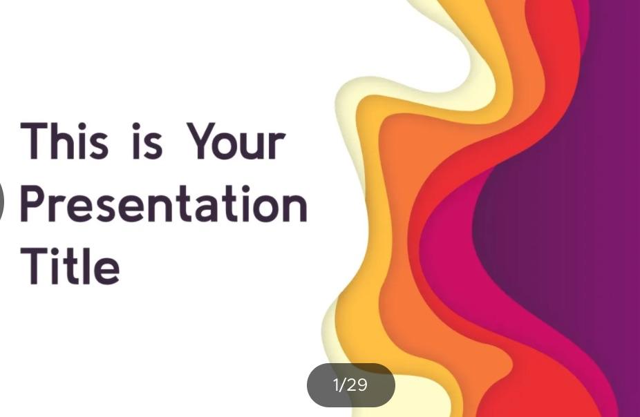 Thaisa, plantilla de PowerPoint colorida gratis