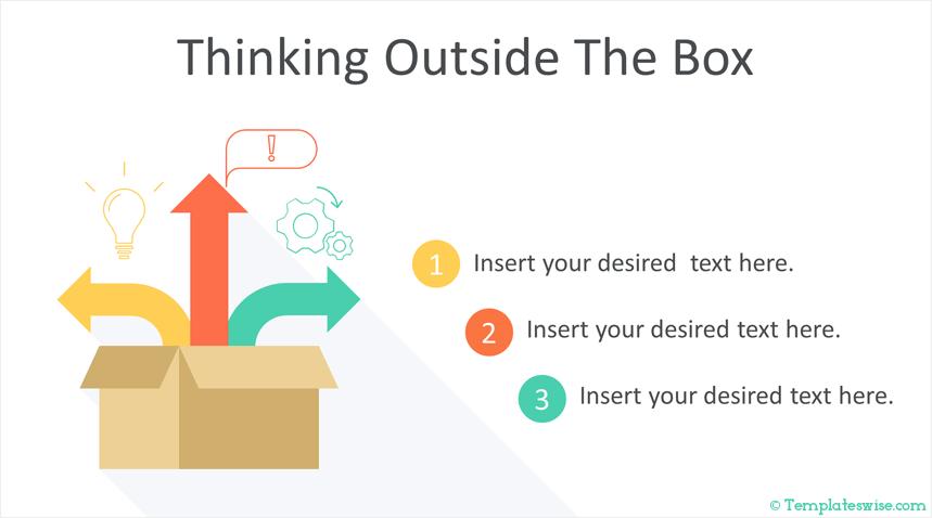 Thinking outside the box: plantilla de PowerPoint creativa gratis