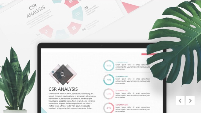 Corporate Social Responsability, plantilla de PowerPoint elegante gratis
