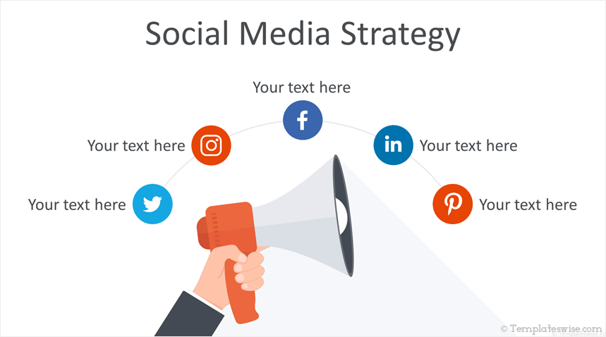Social Media Strategy, plantilla de PowerPoint profesional