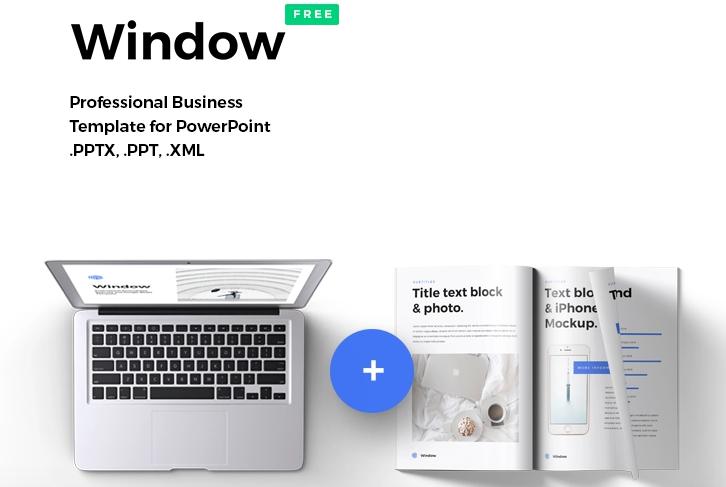 Window, plantilla de PowerPoint formal gratis