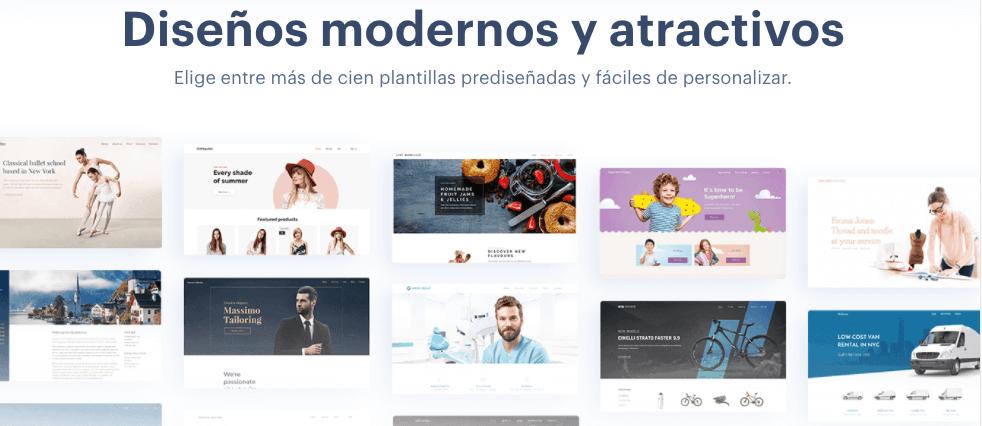 Página gratuita para crear blogs: Webnode