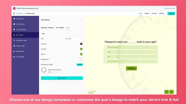 Product Recommendation Quiz, app de recomendaciones para tiendas de Shopify