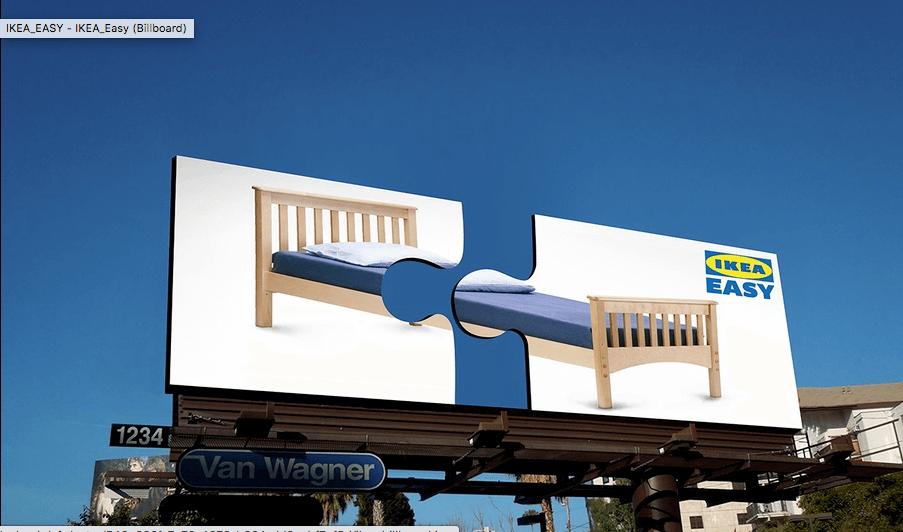 Ejemplo de cartel publicitario interactivo de IKEA