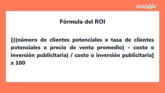 Fórmula del ROI