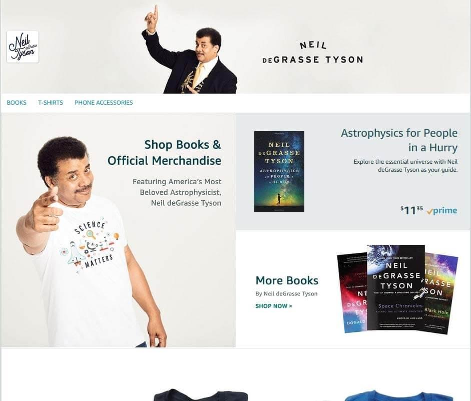 Cómo obtener reseñas positivas: perfil de Amazon de Neil deGrasse Tyson