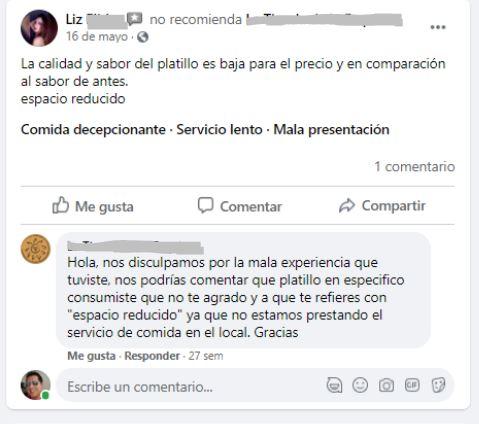Cómo obtener reseñas positivas: respuesta a un comentario negativo en Facebook