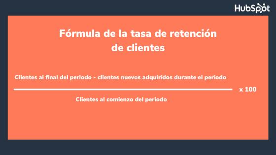 Fórmula para calcular la tasa de retención de clientes