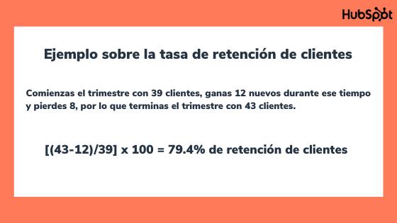Ejemplo para calcular la tasa de retención de clientes en tu empresa