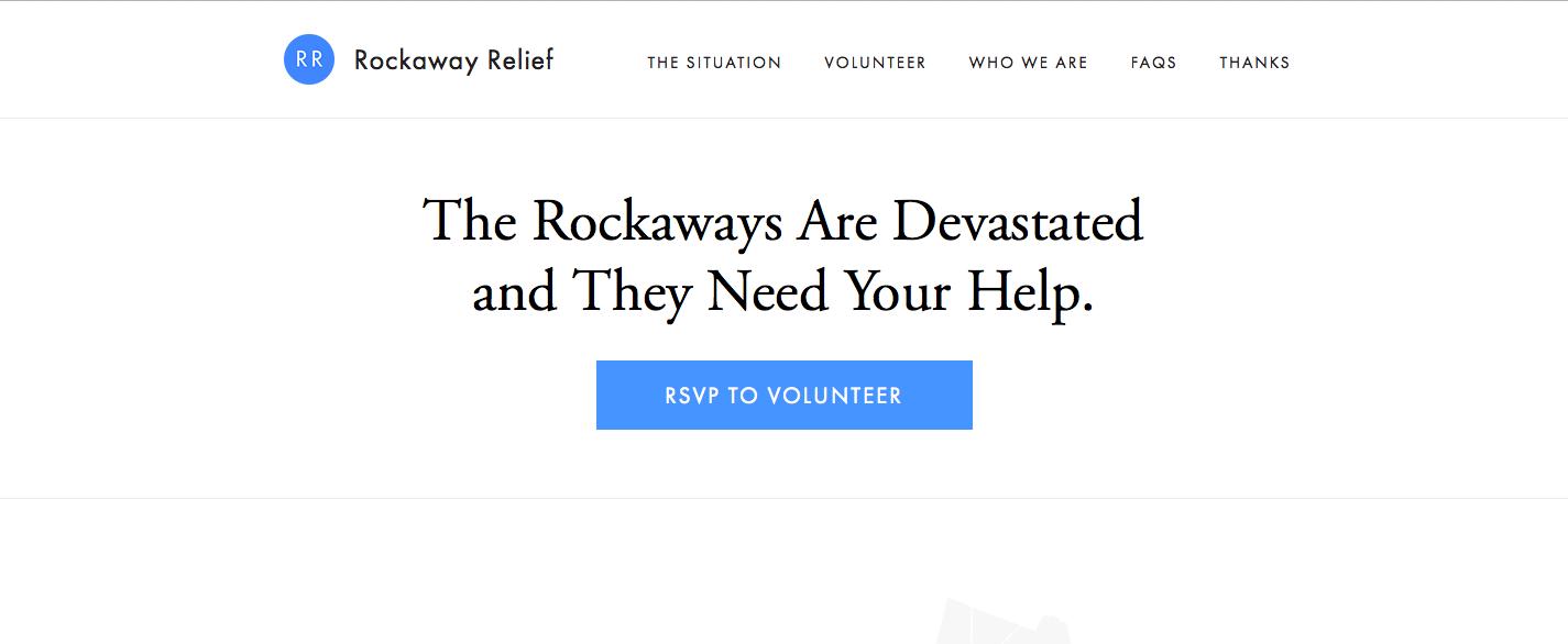 Ejemplo de diseño para buena experiencia de usuario: Rockaway Relief