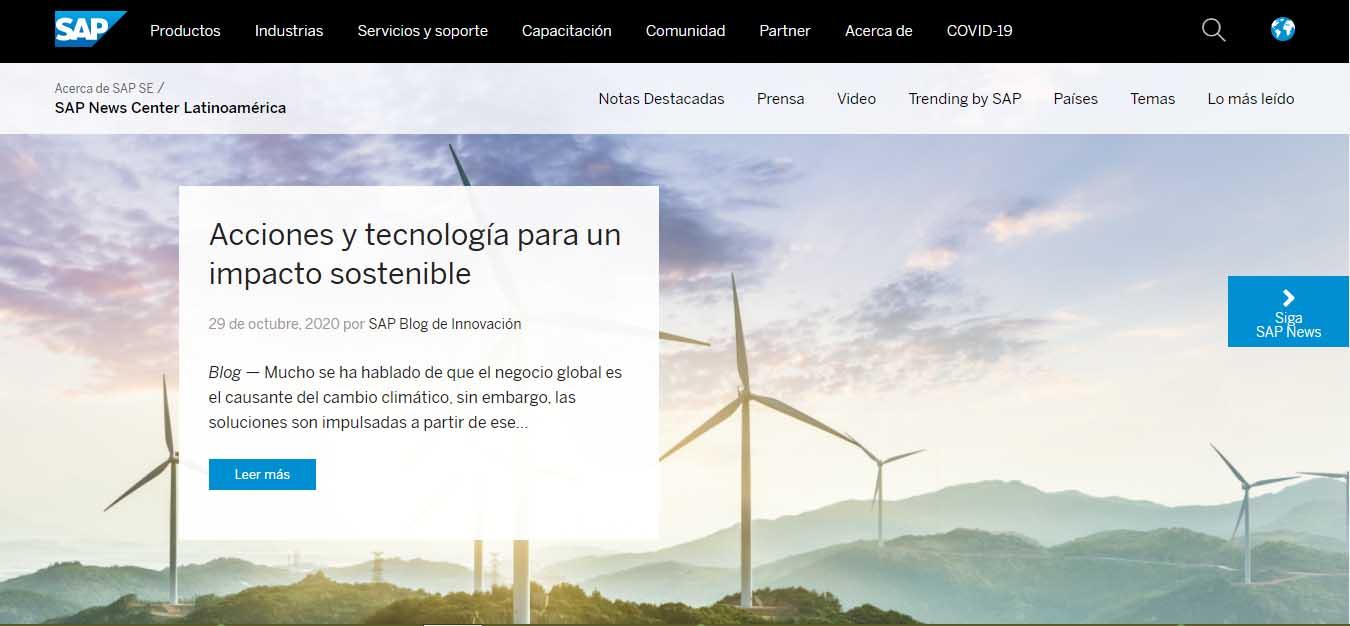 Ejemplo de marketing B2B de SAP