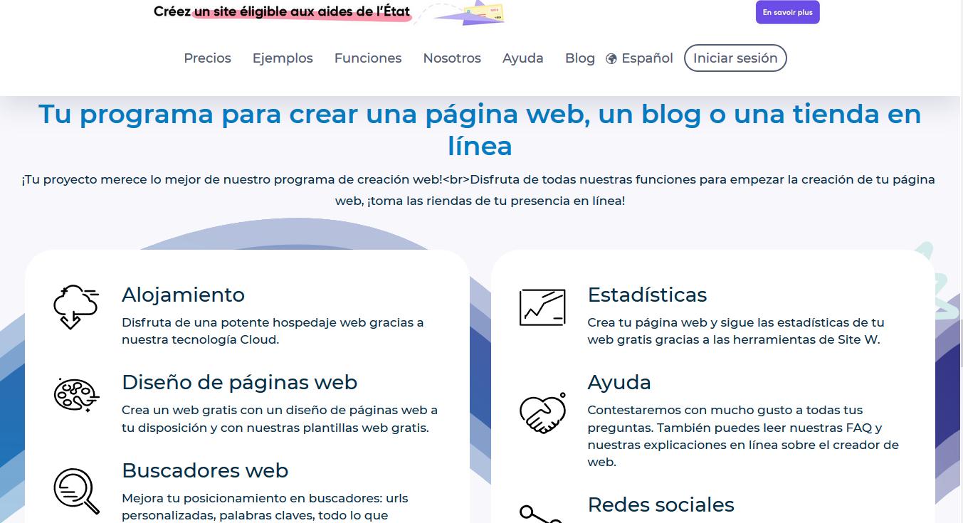Página para crear blogs gratis