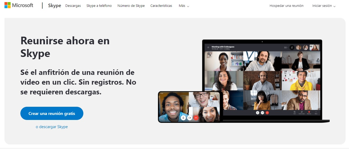 Herramientas para tu reunión navideña en línea: Skype