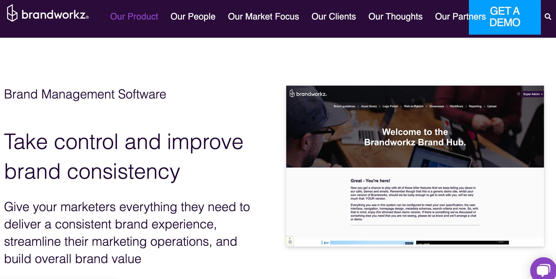 Software de gerencia de marca, brandworkz