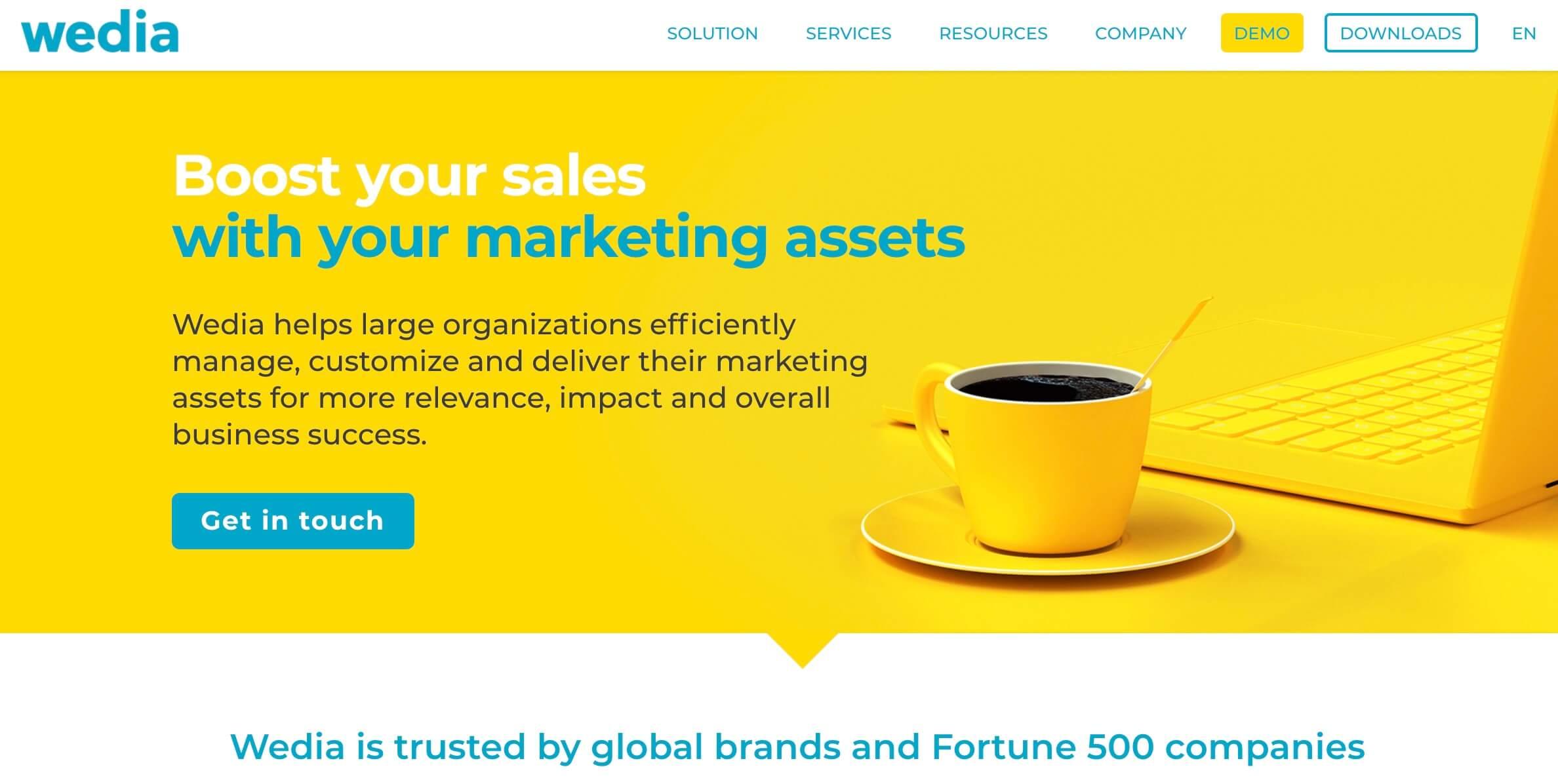 Software de gerencia de marca, Wedia