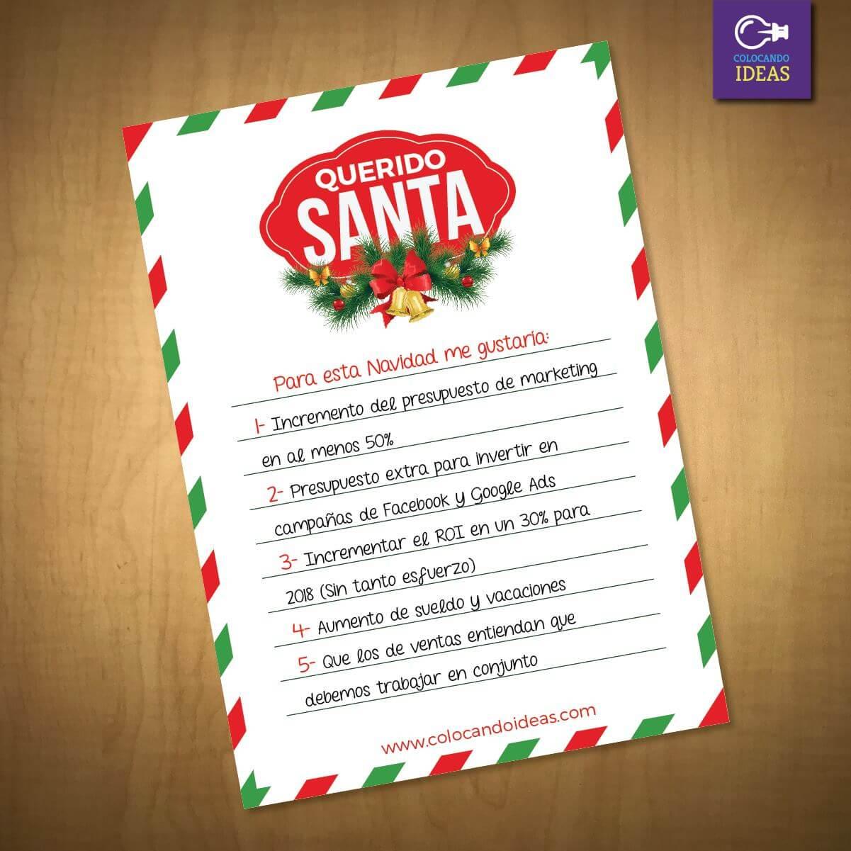 Felicitación de Navidad para profesionales del marketing: lista de deseos