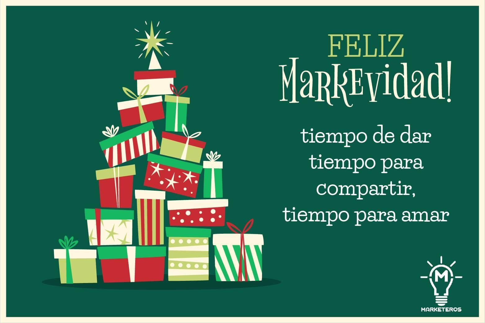 Felicitación de Navidad para marketeros: Markevidad