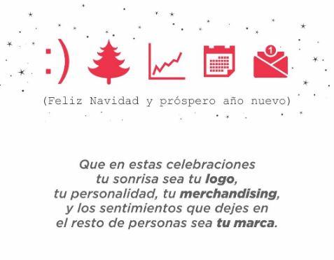 Felicitación de Navidad para marketeros con conceptos de marketing