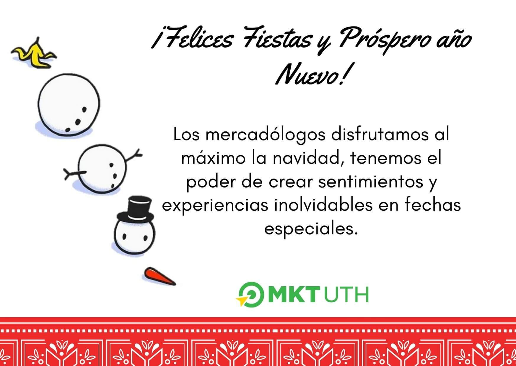 Felicitación de Navidad para marketeros